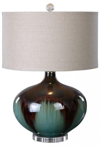 Lakselva Teal Blue Ceramic Lamp