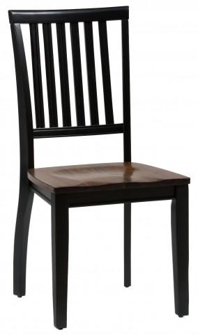 Braden Antique Black Slat Back Chair Set of 2