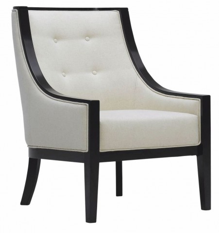 Cyrano Cream Leather Arm Chair