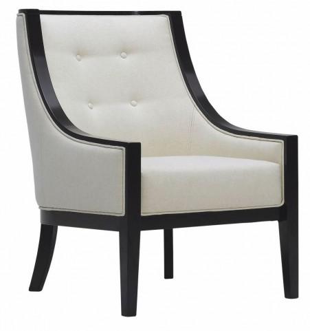 Cyrano Cream Leather Arm Chair