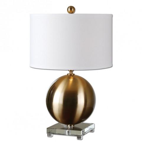 Laton Brass Sphere Table Lamp