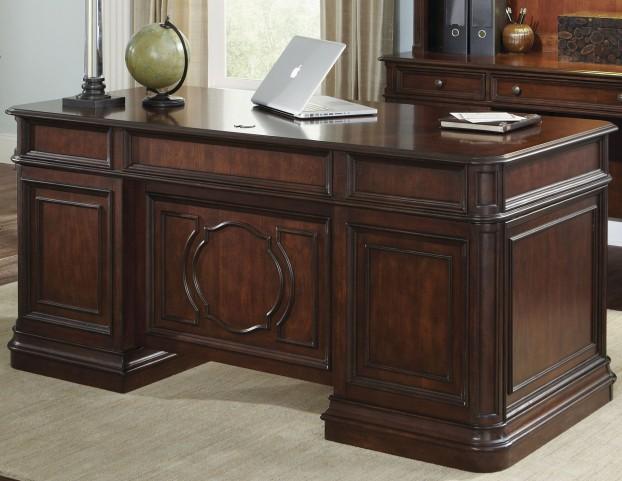 Brayton Manor Cognac Jr Executive Desk