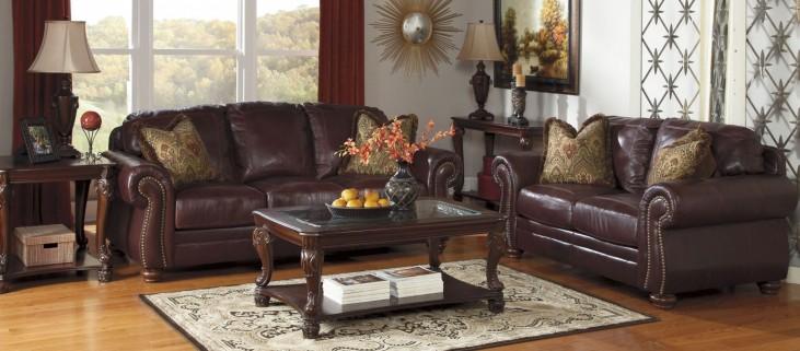 Hessel Redwood Living Room Set