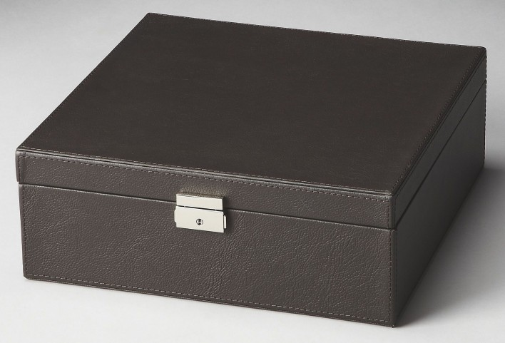 2732034 Lido Hors D'Oeuvres Black Leather Storage Case