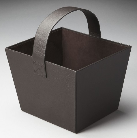 2736034 Lido Hors D'Oeuvres Black Leather Magazine Basket