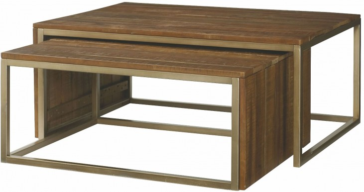 Flashback Rusty Brown Rectangular Nesting Cocktail Table
