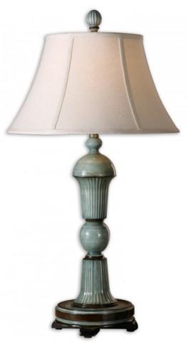 Attilio Antique Blue Table Lamp
