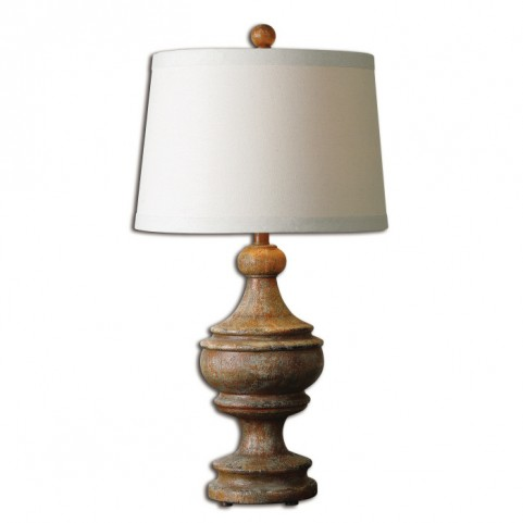Via Lata Solid Wood Table Lamp