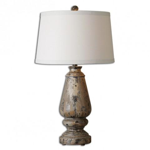 Doria Aged Wood Table Lamp