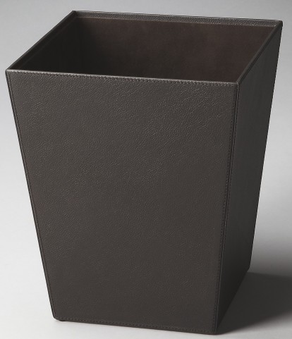 2777034 Lido Hors D'Oeuvres Black Leather Storage Basket