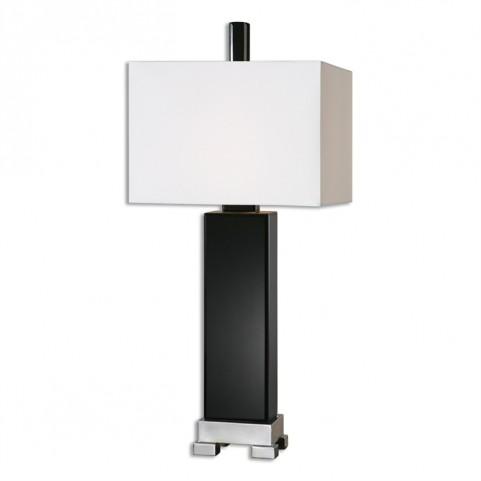 Hilarion Black Glass Lamp
