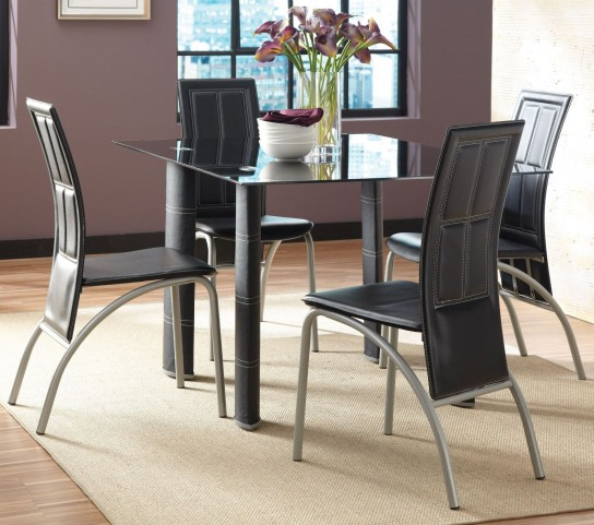 Calvin Glass Top Rectangular Dining Room Set