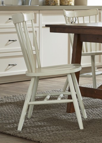 Creations II White Copenhagen Side Chair Set of 2