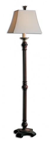 Nathan Mahogany Floor Lamp