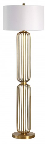 Cesinali Gold Cage Floor Lamp