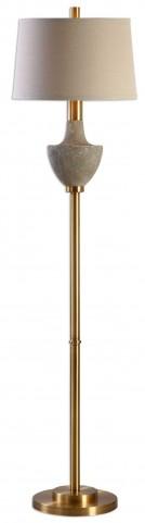 Volongo Stone Ivory Floor Lamp