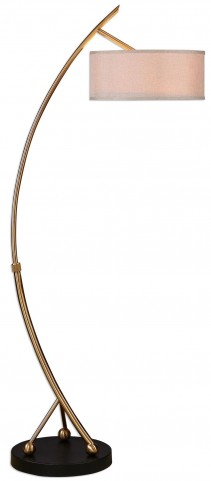 Vardar Curved Brass Floor Lamp