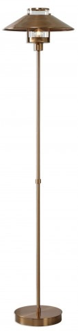 Albaretto Brushed Brass Floor Lamp