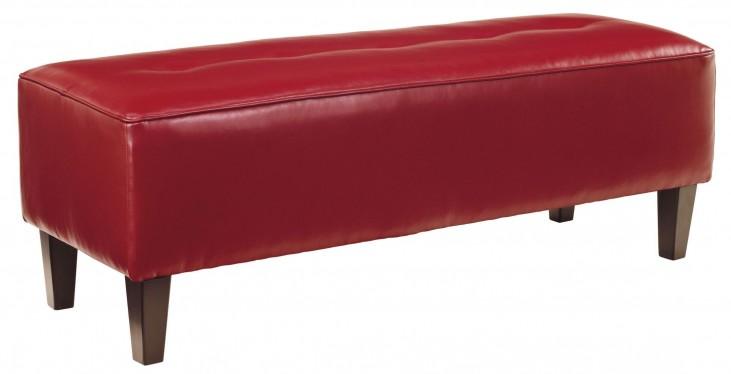 Sinko Scarlet Oversized Accent Ottoman