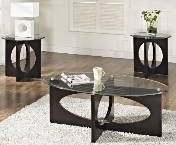 Dania Dark Merlot 3 Piece Occasional Table Set