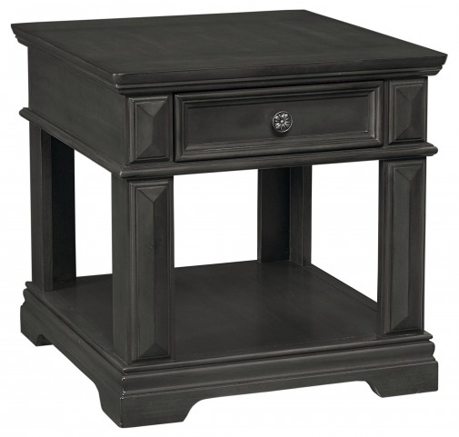 Garrison Soft Grey Drawer End Table
