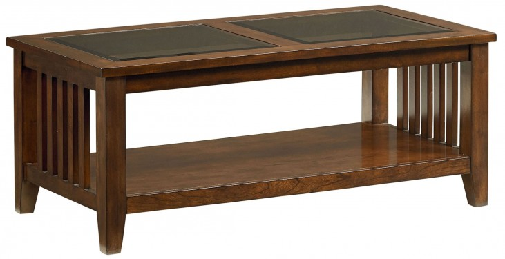 Rio Dark Brown Cherry Cocktail Table