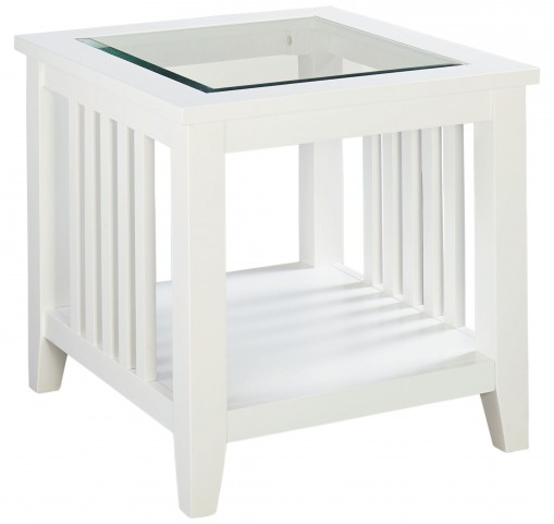 Rio Lite Crisp White Paint End Table