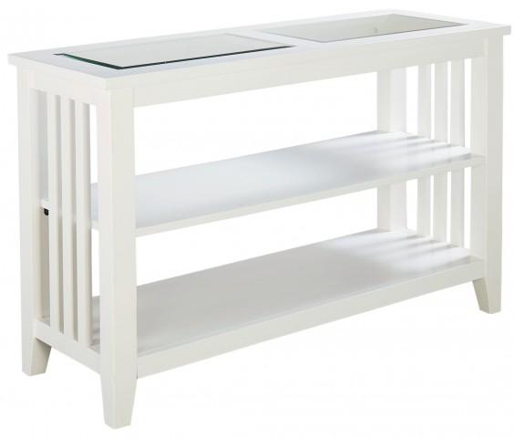 Rio Lite Crisp White Paint Console Table