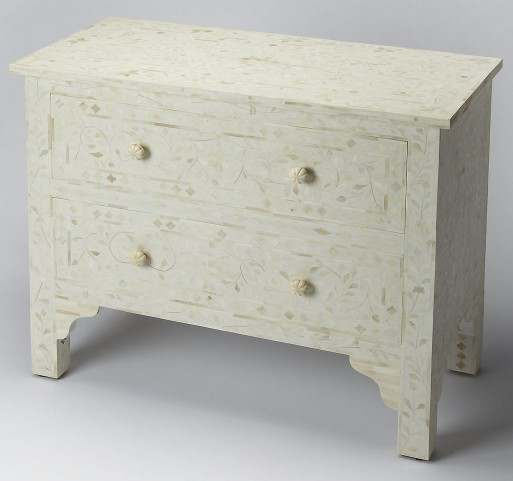 Bone Inlay Vivienne White Chest