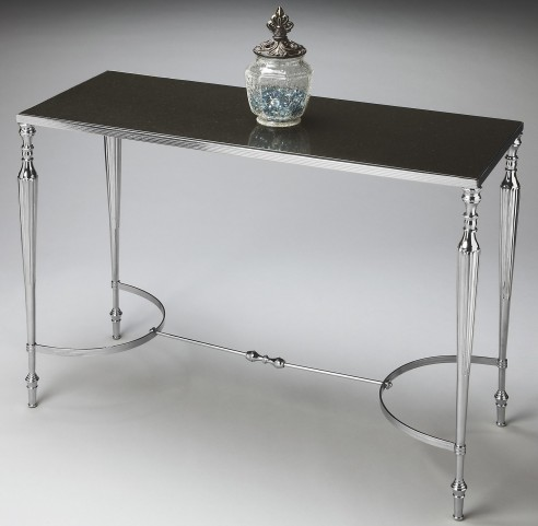 2856220 Modern Expressions Nickel Console/Sofa Table