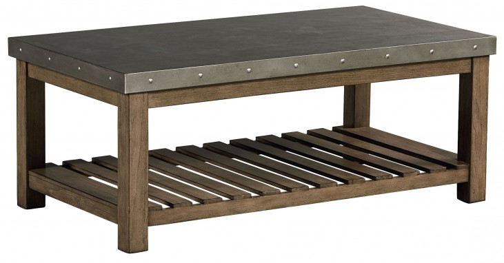 Riverton Dusty Weathered Wood Cocktail Table