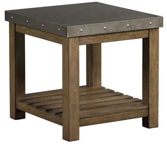 Riverton Dusty Weathered Wood End Table