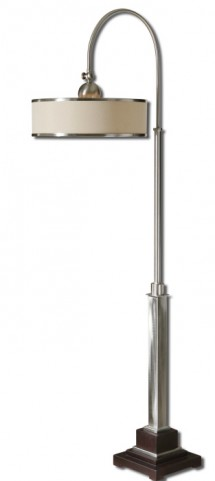 Amerigo Brushed Aluminum Floor Lamp