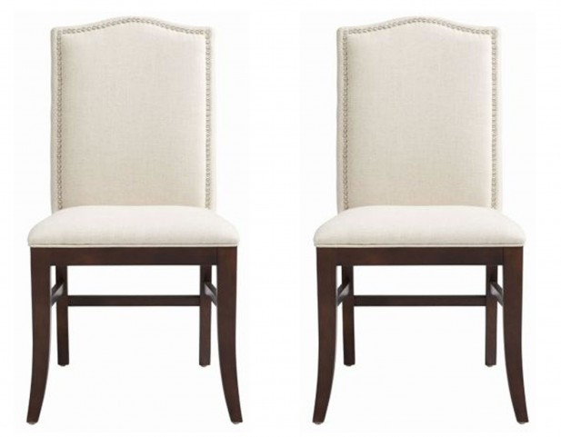 Maison Fabric Linen Dining Chair Set of 2