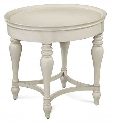 Sanibel White Oval End Table