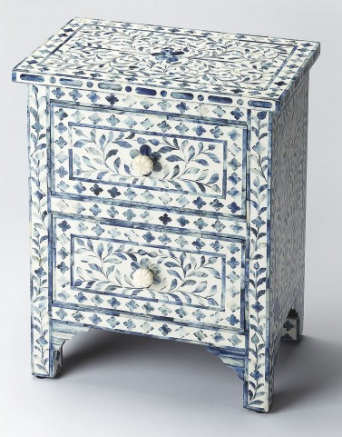 Bone Inlay Vivienne Blue Accent Chest