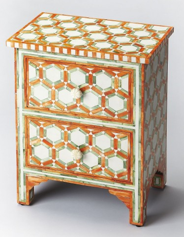 Bone Inlay Vivienne Brown Accent Chest