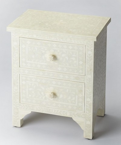Bone Inlay Vivienne White Accent Chest