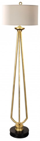 Torano Antiqued Gold Floor Lamp