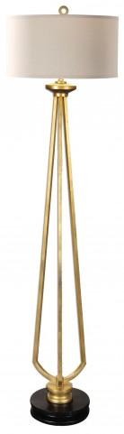 Torano Antiqued Gold Floor Lamp