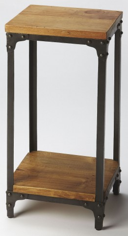Grimsley Iron & Wood Pedestal Stand