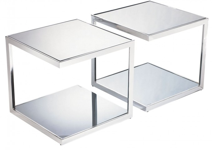 Nolan Mirrored Side Table