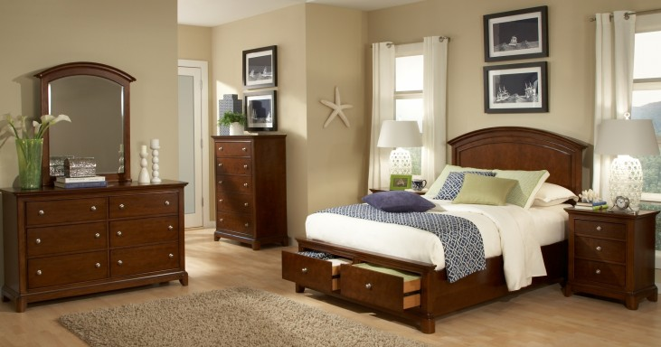 Impressions Storage Panel Bedroom Set