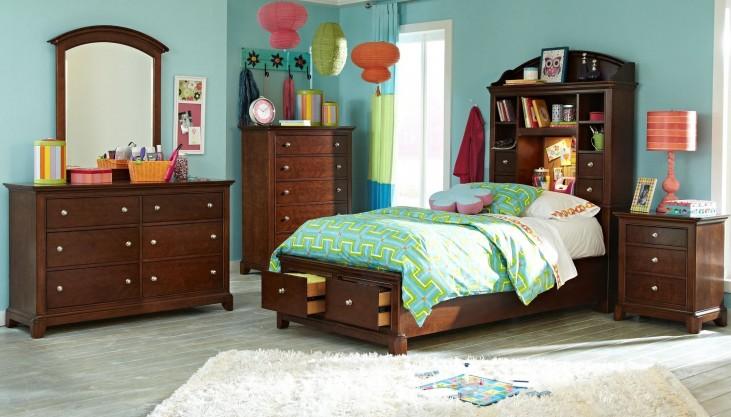 Impressions Storage Bookcase Bedroom Set