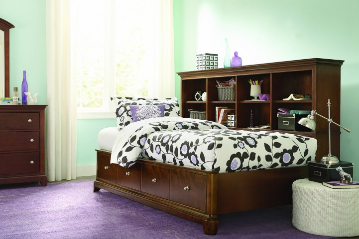 Impressions Classic Clear Cherry Youth Bookcase Lounge Bedroom Set