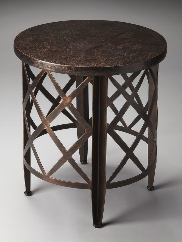 Metalworks Moderately Distressed End Table