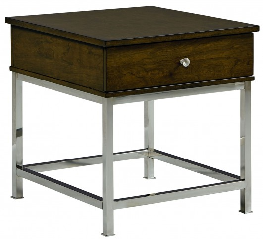 Beckett Retro Cherry Merlot Drawer End Table