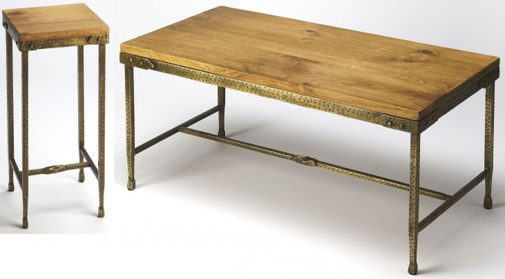 Gratton Iron & Wood Ocassional Table Set