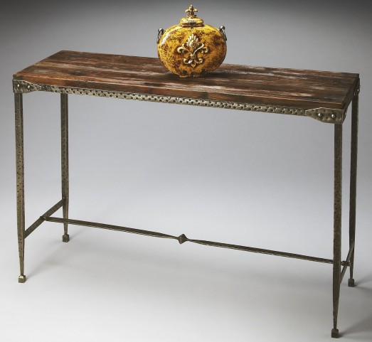 2886120 Industrial Chic Mountain Lodge Console Table