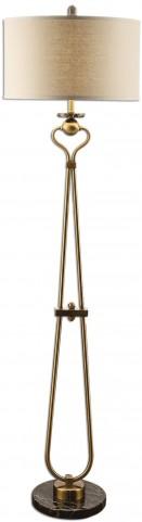 Arcella Brushed Brass Floor Lamp